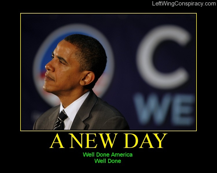 Motivational Poster -- A New Day
