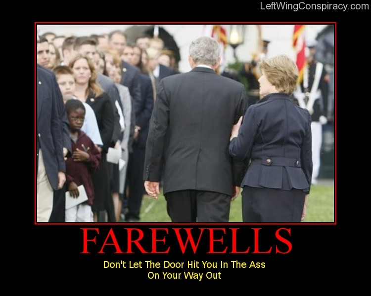 Motivational Poster -- Farewells