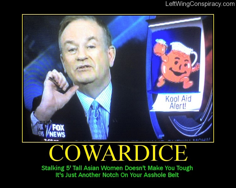 Motivational Poster -- Cowardice