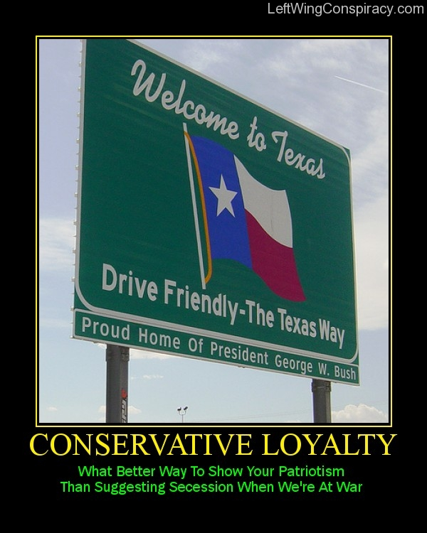 Motivational Poster -- Conservative Loyalty
