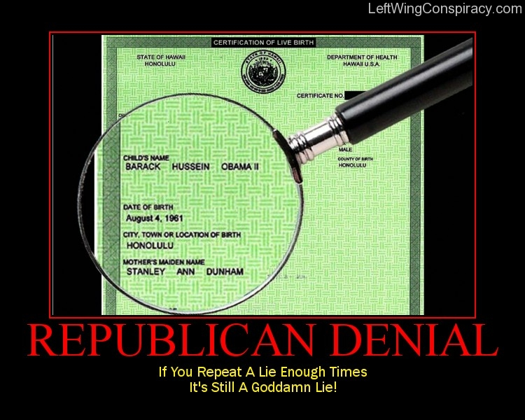 Motivational Poster -- Republican Denial