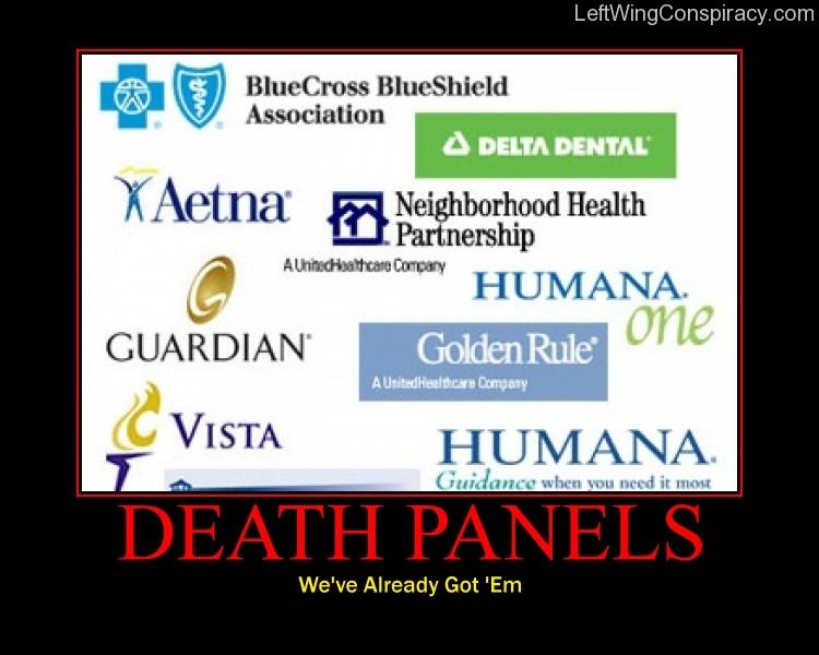 Motivational Poster -- Death Panels
