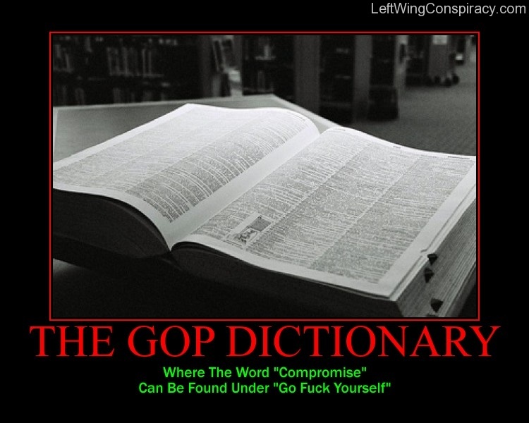 Motivational Poster -- The GOP Dictionary