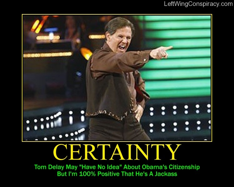 Motivational Poster -- Certainty