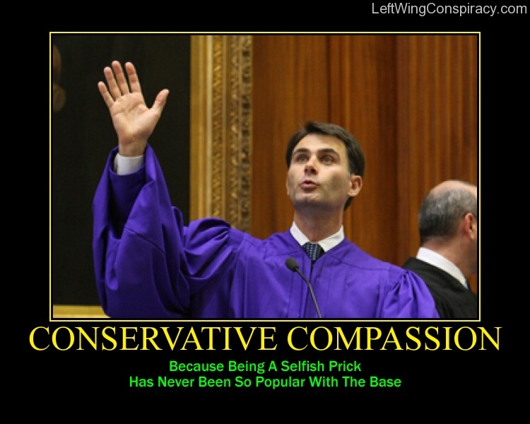 Motivational Poster -- Conservative Compassion