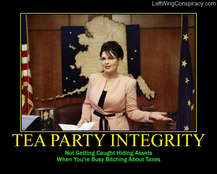 Motivational Poster -- Tea Party Integrity