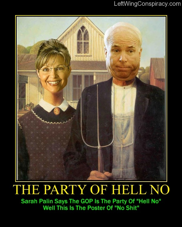 Motivational Poster -- The Party Of Hell No