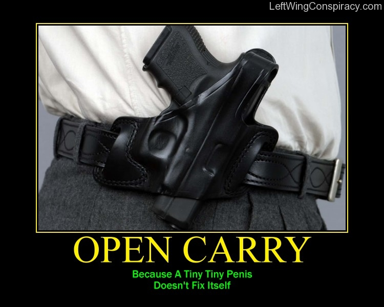 Motivational Poster -- Open Carry