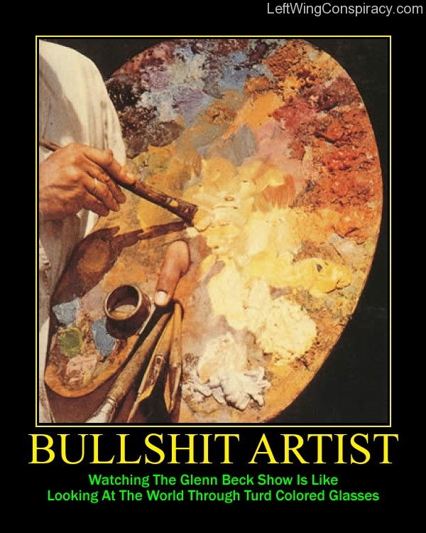 Motivational Poster -- Bullshit Artist
