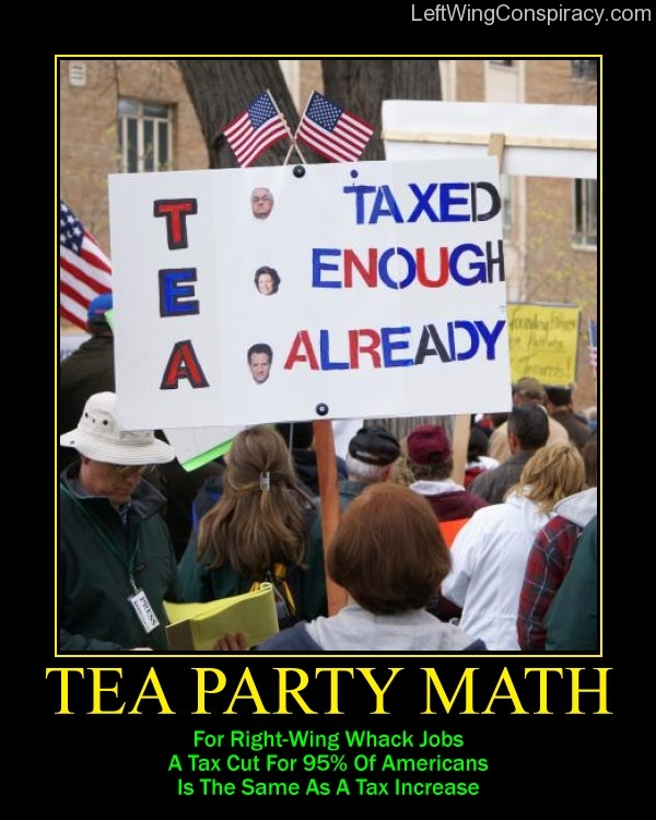 Motivational Poster -- Tea Party Math