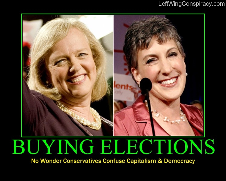 Motivational Poster -- Buying Elections