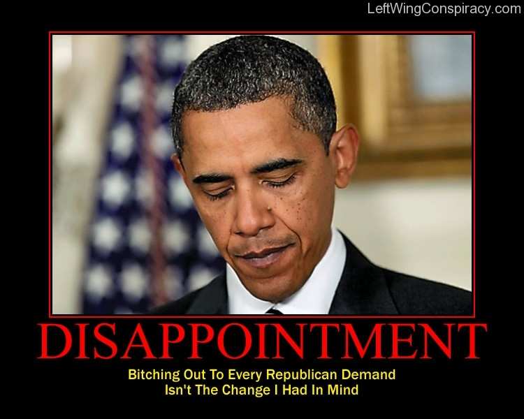 Motivational Poster -- Disappointment