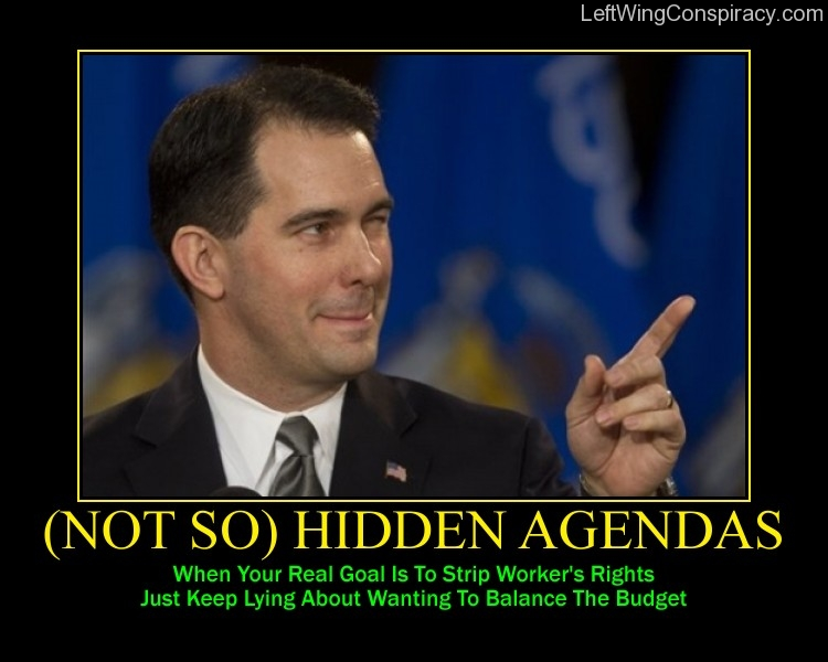 Motivational Poster -- (Not So) Hidden Agendas