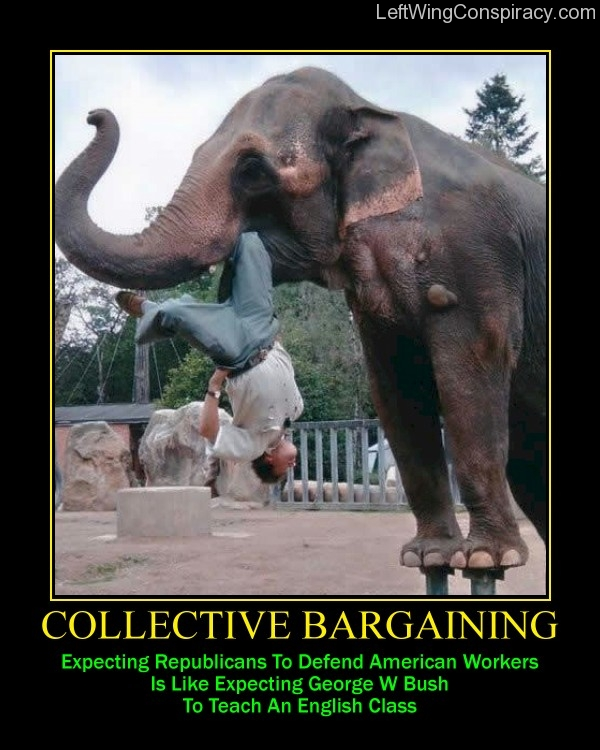 Motivational Poster -- Collective Bargaining