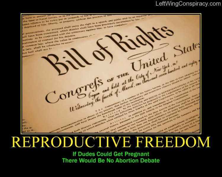 Motivational Poster -- Reproductive Freedom